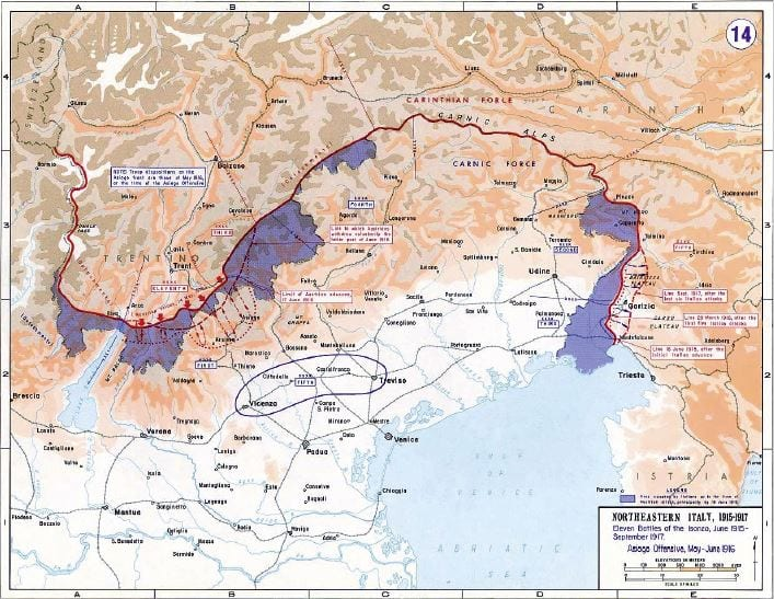 Italy Map Pdf.Italian Front Map Pdf Thumbnail Away From The Western Front