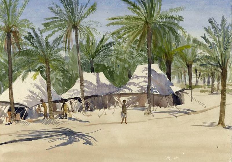 An Indian Army Camp in Mesopotamia by Richard Carline